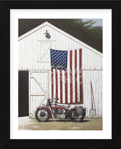 Barn and Motorcycle (Framed) -  Zhen-Huan Lu - McGaw Graphics