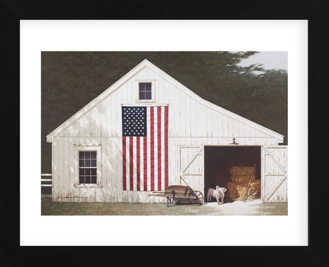 Barn with Piglet (Framed) -  Zhen-Huan Lu - McGaw Graphics