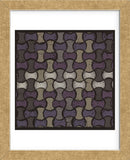 Basketweave Oval - Plum (Framed) -  Susan Clickner - McGaw Graphics