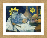 Still Life with Teapot and Fruit, 1896 (Framed) -  Paul Gauguin - McGaw Graphics