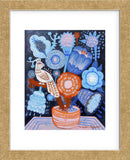 Blue Flowers (Framed) -  Mercedes Lagunas - McGaw Graphics