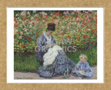 Camille Monet and a Child in the Artist's Garden in Argenteuil, 1875 (Framed) -  Claude Monet - McGaw Graphics