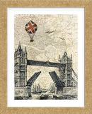 Tower Bridge Balloon (Framed) -  Marion McConaghie - McGaw Graphics