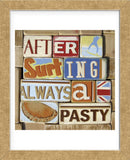 After Surfing Always a Pasty (Framed) -  Norfolk Boy - McGaw Graphics
