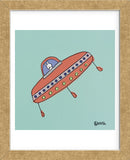UFO Lala - Teal (Framed) -  Brian Nash - McGaw Graphics