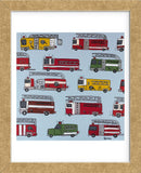 Fire Trucks (Framed) -  Brian Nash - McGaw Graphics