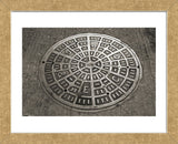 San Francisco Manhole Cover  (Framed) -  Christian Peacock - McGaw Graphics