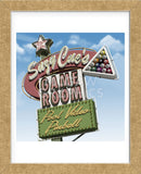 Suzy Cue's Game Room (Framed) -  Anthony Ross - McGaw Graphics