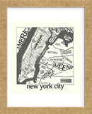 New York Map (Framed) -  Urban Cricket - McGaw Graphics