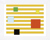 Color Block on Stripe  (Framed) -  Dan Bleier - McGaw Graphics