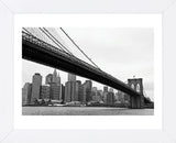 Manhattan from Brooklyn (b/w)  (Framed) -  Erin Clark - McGaw Graphics