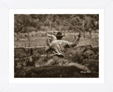 Working the Herd (Framed) -  Barry Hart - McGaw Graphics