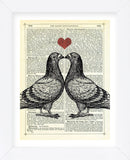 Pigeons in Love (Framed)