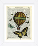 Butterflies & Balloon (Framed)