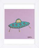 UFO Lala - Purple (Framed) -  Brian Nash - McGaw Graphics