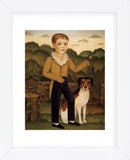 Boy with Dog (Framed)