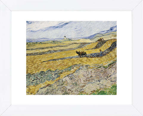 Enclosed Field with Ploughman  (Framed) -  Vincent van Gogh - McGaw Graphics