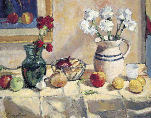Tony Saladino - Still Life with Vase and Pitcher