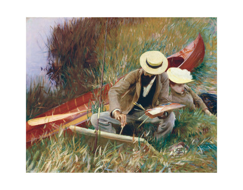An Out-of-Doors Study (formerly known as Paul Helleu Sketching with His Wife) -  John Singer Sargent - McGaw Graphics