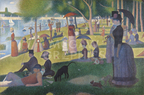 Sunday Afternoon on the Island of Grande Jatte 1864 -  Georges Seurat - McGaw Graphics
