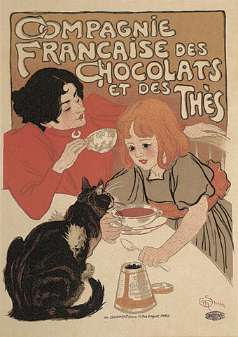 Compagnie Francaise des Chocolats -  Theophile-Alexandre Steinlen - McGaw Graphics