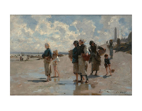 Fishing for Oysters at Cancale, 1878 -  John Singer Sargent - McGaw Graphics