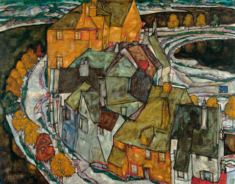 Crescent of Houses II (Island Town), 1915 -  Egon Schiele - McGaw Graphics