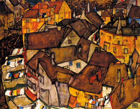Crescent of Houses (The Small City V), 1915 -  Egon Schiele - McGaw Graphics