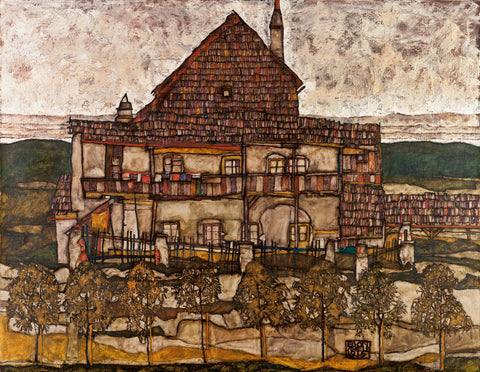 House with Shingle Roof (Old House II), 1915 -  Egon Schiele - McGaw Graphics