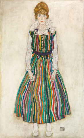 Egon Schiele - Portrait of Edith (the artist's wife), 1915