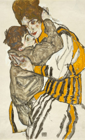 Schiele's Wife With Her Little Nephew, 1915 -  Egon Schiele - McGaw Graphics