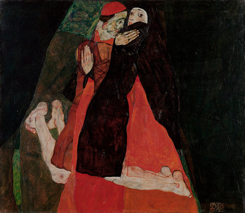 Egon Schiele - Cardinal and Nun (Caress)