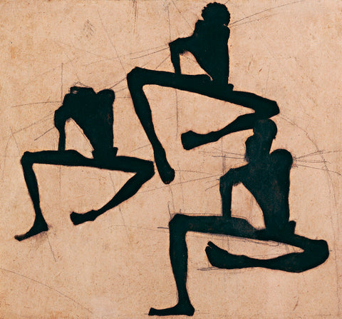 Composition with Three Male Nudes -  Egon Schiele - McGaw Graphics
