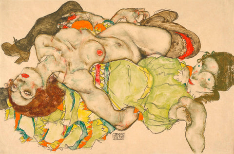 Female Lovers, 1915 -  Egon Schiele - McGaw Graphics