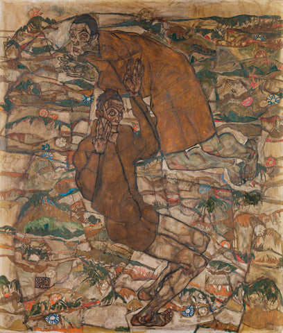 Egon Schiele - Levitation (The Blind II)