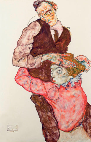 Lovers -  Egon Schiele - McGaw Graphics