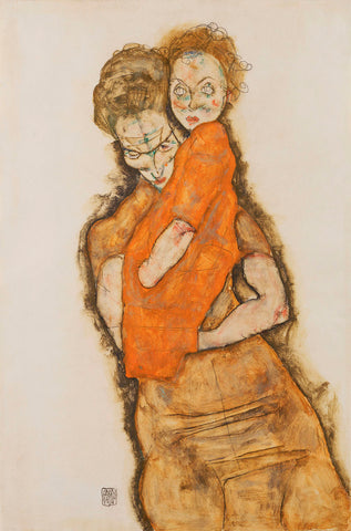 Mother and Child -  Egon Schiele - McGaw Graphics