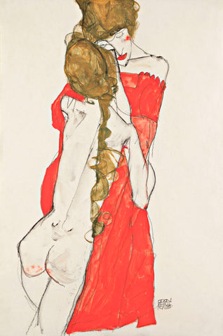 Mother and Daughter -  Egon Schiele - McGaw Graphics