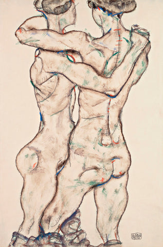 Naked Girls Embracing -  Egon Schiele - McGaw Graphics