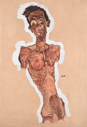 Nude Self-Portrait -  Egon Schiele - McGaw Graphics