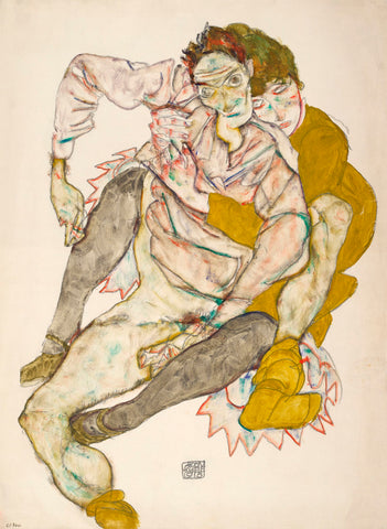 Seated Couple, 1915 -  Egon Schiele - McGaw Graphics