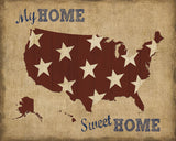 My Home Sweet Home USA Map -  Sparx Studio - McGaw Graphics