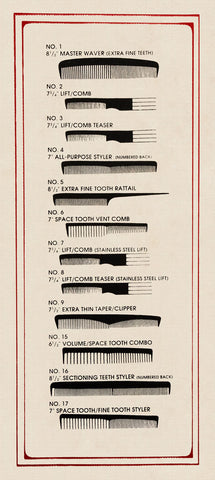 Barbershop Combs -  Kara Smith - McGaw Graphics