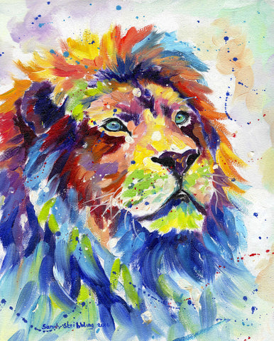 Sarah Stribbling - Colorful African Lion