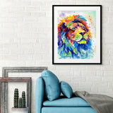 Colorful African Lion -  Sarah Stribbling - McGaw Graphics