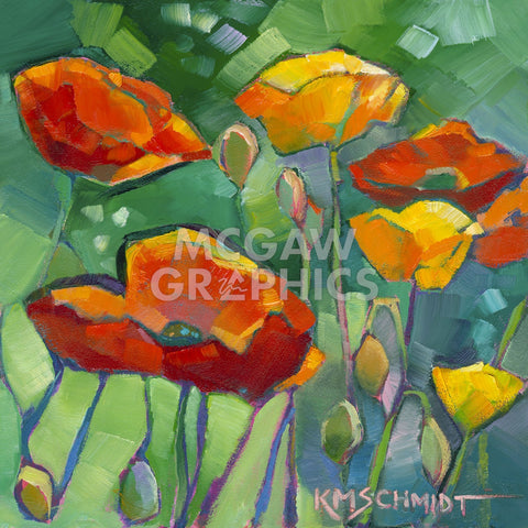 Poppy Dance -  Karen Mathison Schmidt - McGaw Graphics
