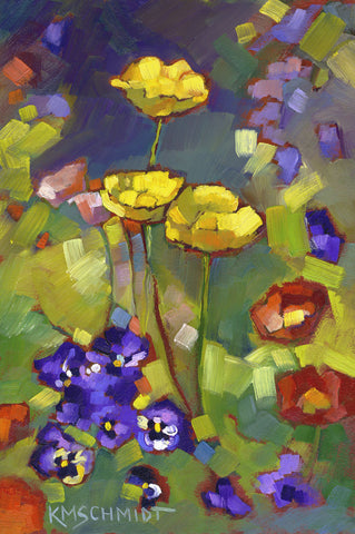 Poppies and Pansies -  Karen Mathison Schmidt - McGaw Graphics