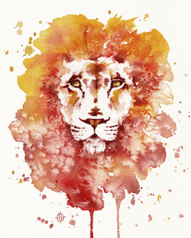 Sillier than Sally - Pride (Watercolor Lion)