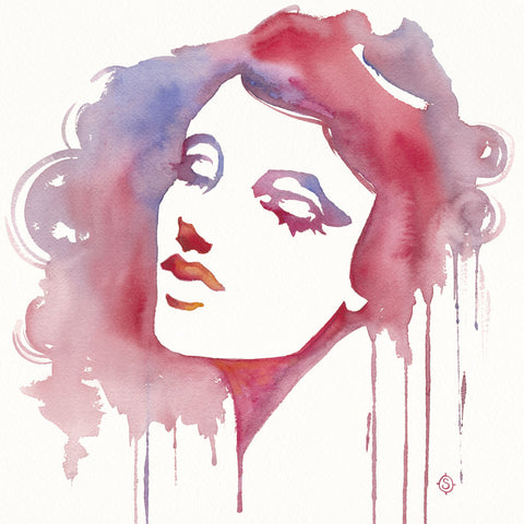 Sillier than Sally - So She Flows (Watercolor portrait)