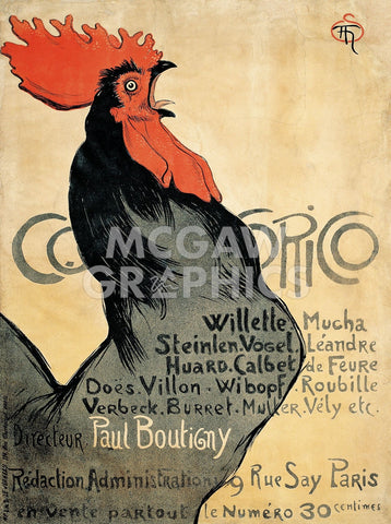 Cocorico, 1899 -  Theophile-Alexandre Steinlen - McGaw Graphics
